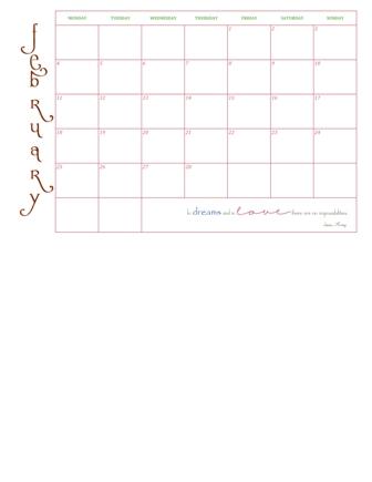 Calendar No FrameWeb