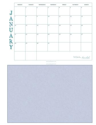 January and Frame web