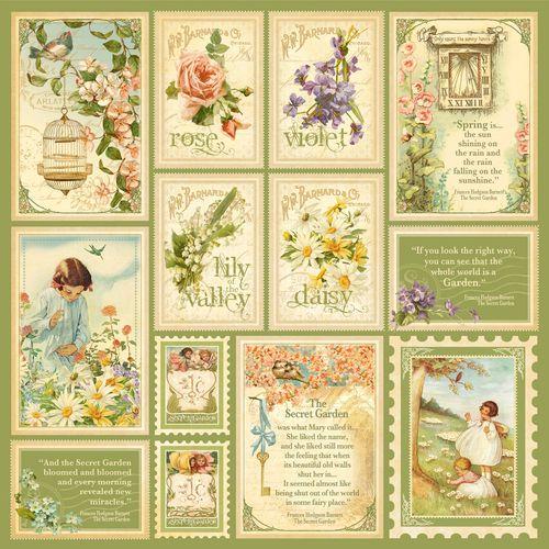 New Graphic 45 Secret Garden Paper Collection Enchant Art