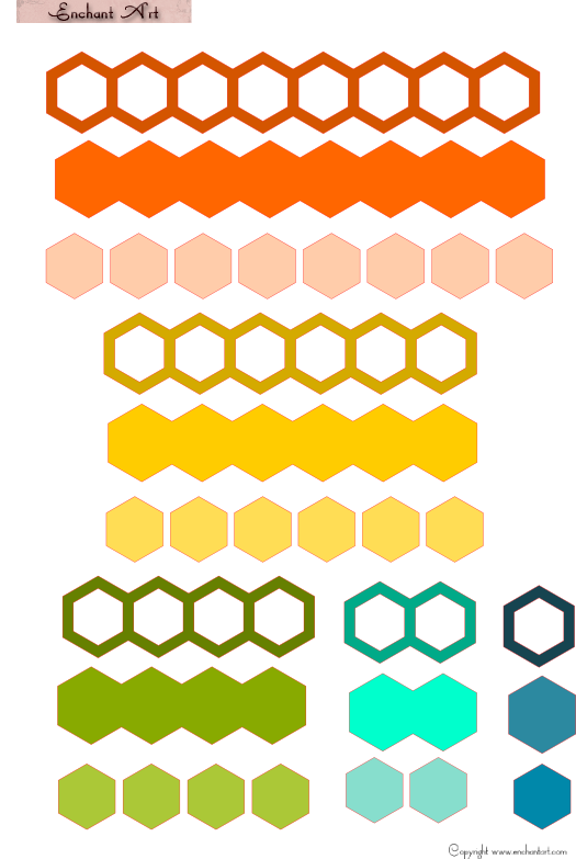Hexagon Digital File And Free Card Front 171 Enchant Art