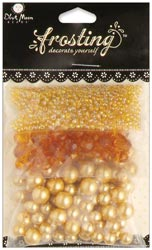 Blue Moon Frosting Assorted Glass Acrylic Beads Gold