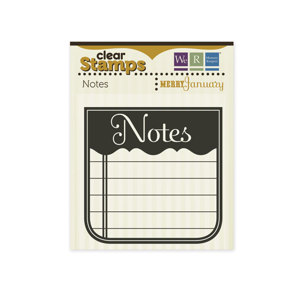 Clear Stamps Notes Journaling