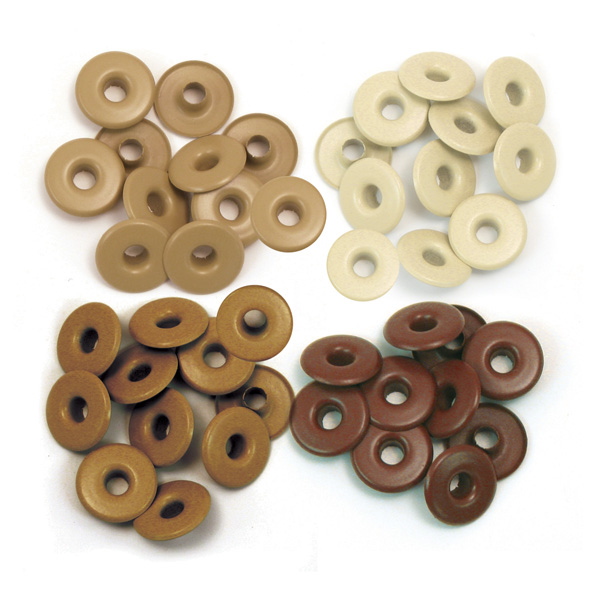 Eyelets Aluminum Brown Wide