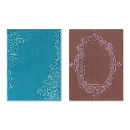 Sizzix Textured Impressions Embossing Folders 2PK Fancy & Floral