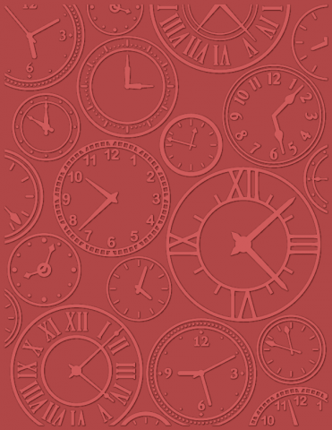 About Time (UNI)- Size eBosser Embossing Folder