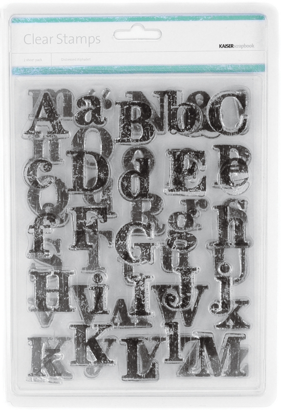 Kaisercraft Clear Distressed Alphabet Stamp - 2 Sheets/Pkg