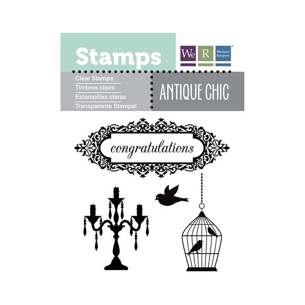 Congratulations Antique Chic Clear Stamp