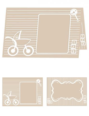 Baby Blocks - A4 Size eBosser Embossing Folder