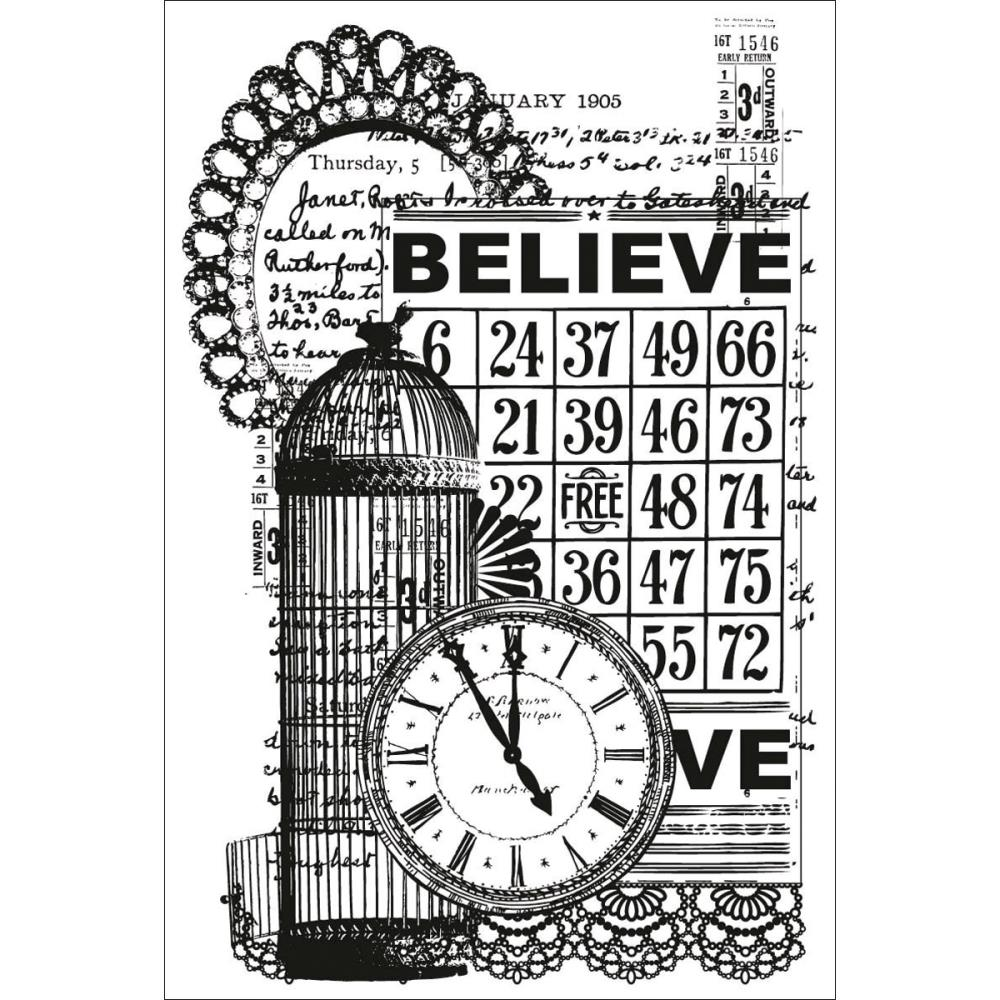 Kaisercraft Vintage Clear Stamp: Believe