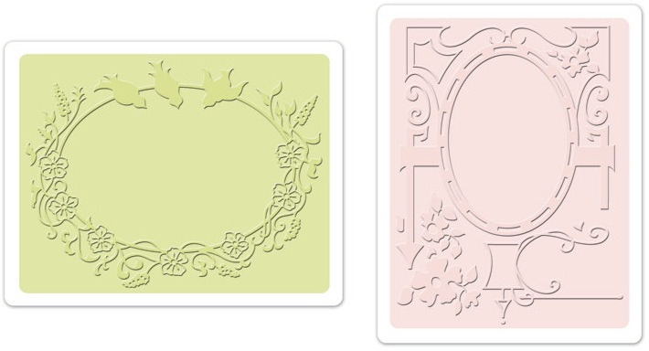 Sizzix Textured Impressions Embossing Folders 2PK - Bird & Garde