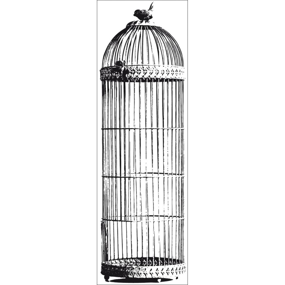 Kaisercraft Clear Stamp: Bird Cage