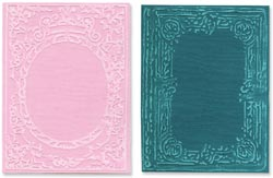 Sizzix Textured Impressions Embossing Folders 2PK Book Covers