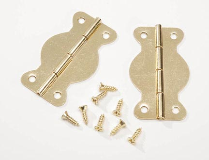 "Darice Hinges: 1-3/4"" Brass Finish"