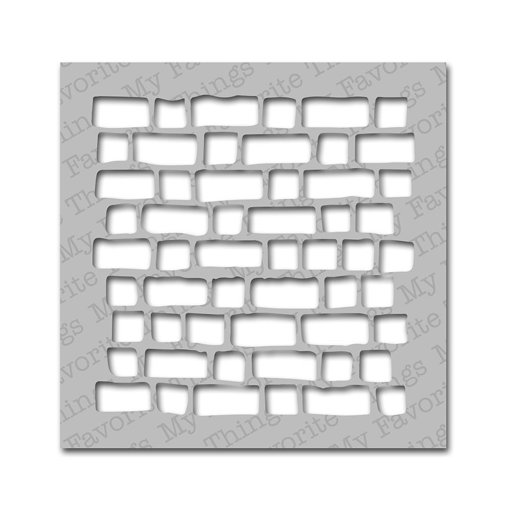 My Favorite Things MIX-ables Stencil, 6 by 6-Inch, Brick Wall