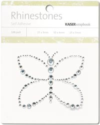 Kaisercraft Self-Adhesive Rhinestones - Butterfly-Silver