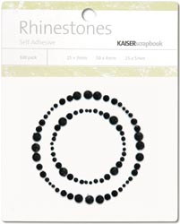 Kaisercraft Self-Adhesive Rhinestones - Circle Border-Black