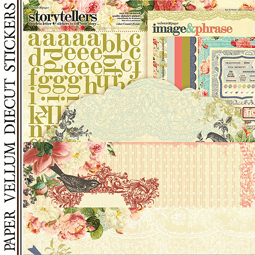 "Country Estate Paper Kit 12""X12"""