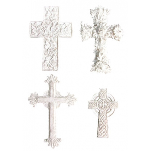 Melissa Frances Cross Resin Embellishment
