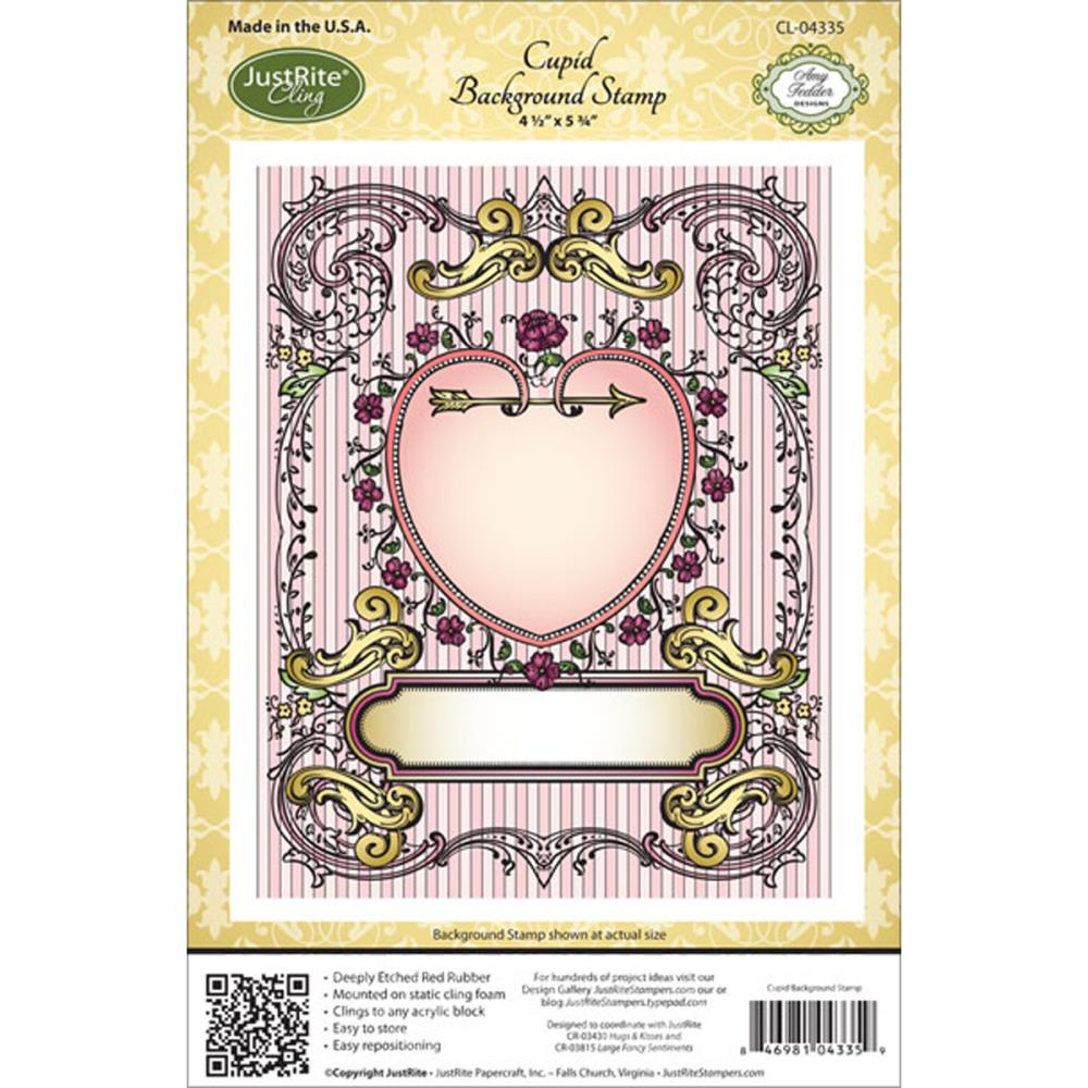 Justrite Stampers Cling Background Stamp: Cupid