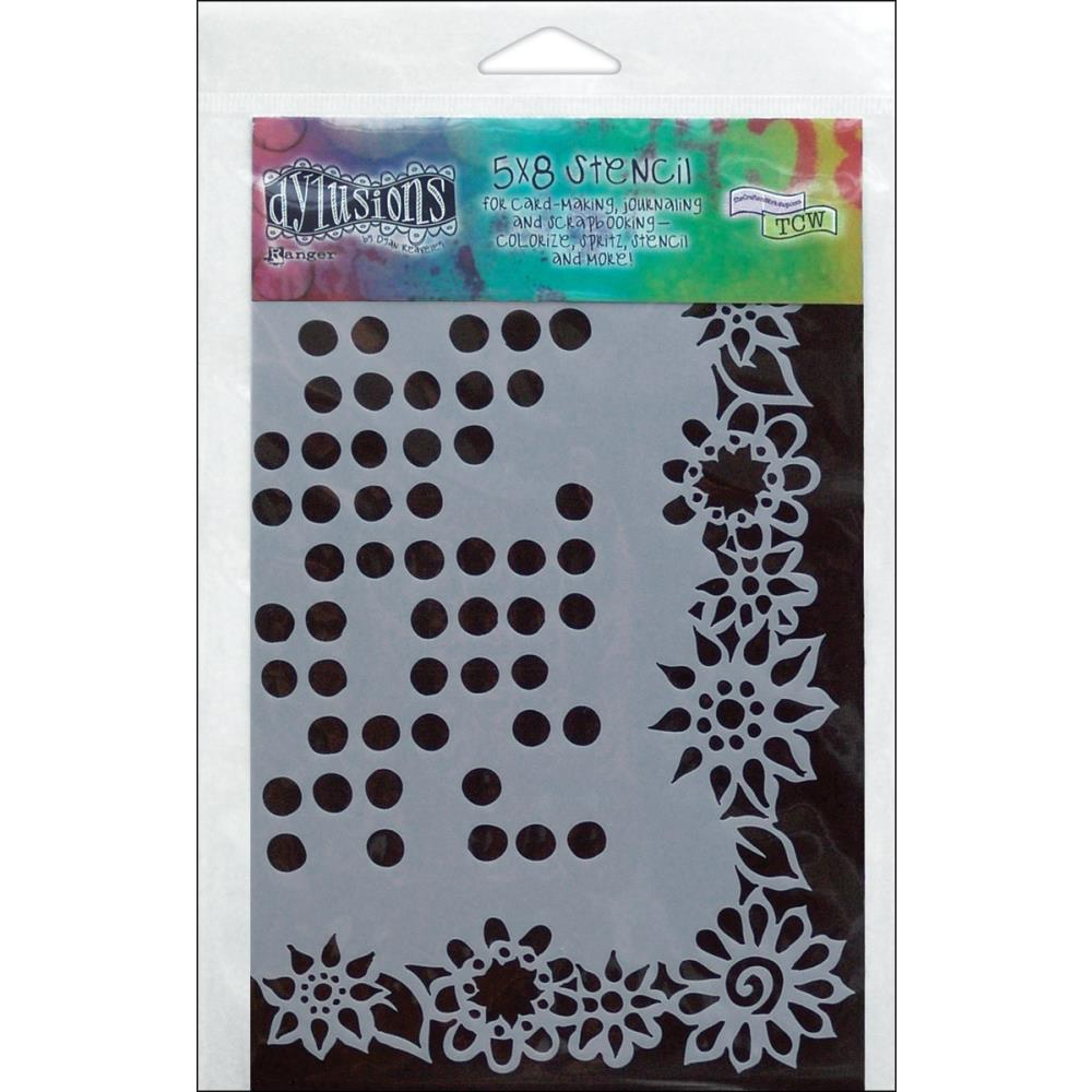 Dylusions Dot Flowers Stencil - Click Image to Close