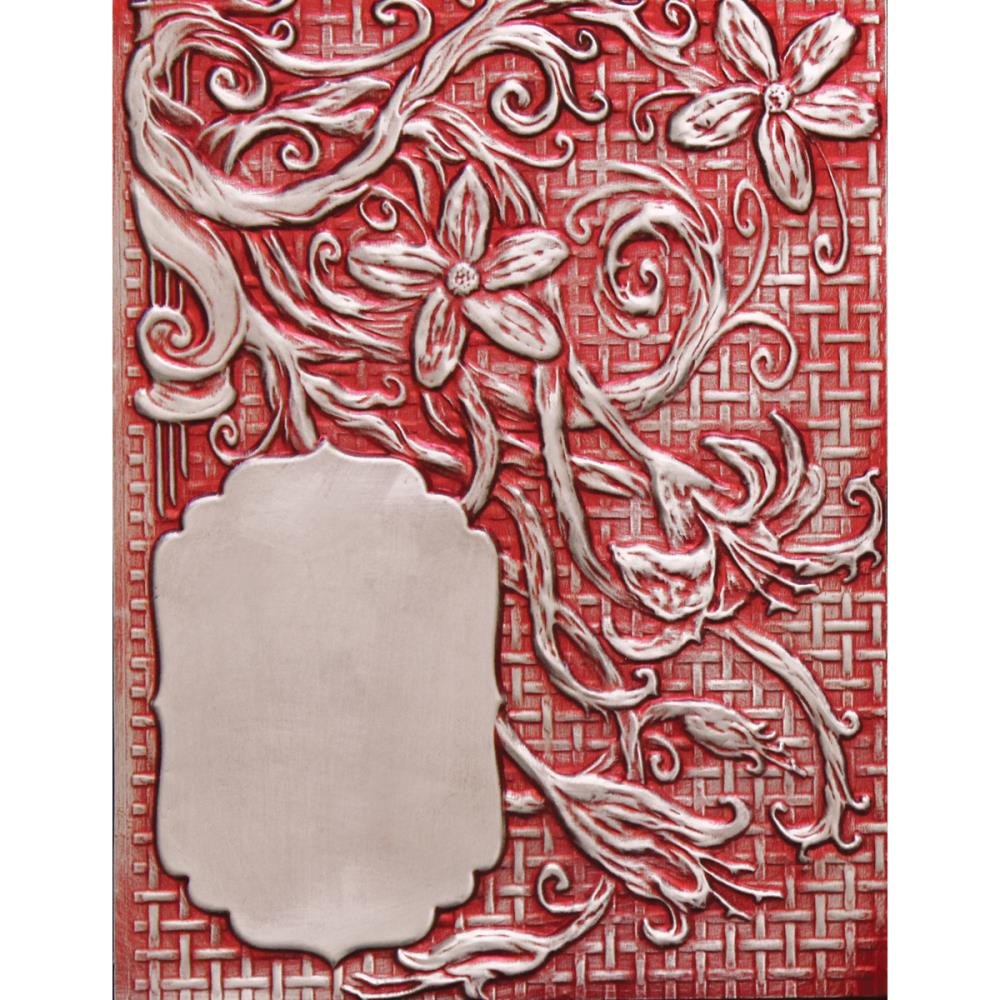 Spellbinders M-Bossabilities 3D Embossing Folder Floral Labels 4