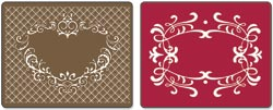 Sizzix Textured Impressions Embossing Folders 2PK - Frames Heart