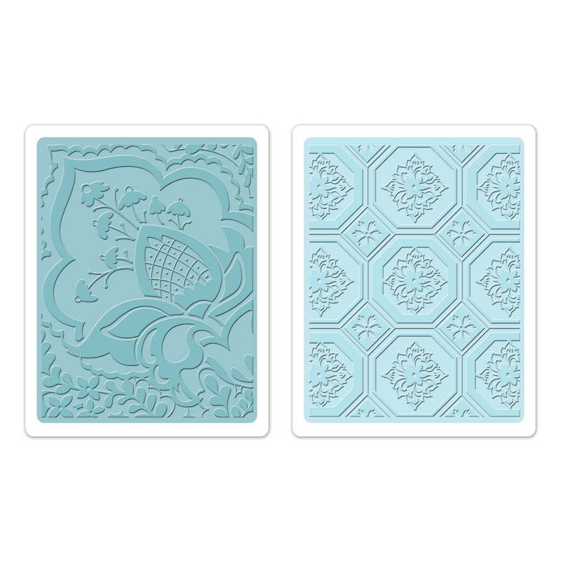 Textured Impressions Embossing Folders 2PK - Free Spirit Floral