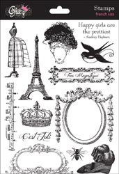 "French Kiss Clear Stamps 6""X8.75"" Sheet"