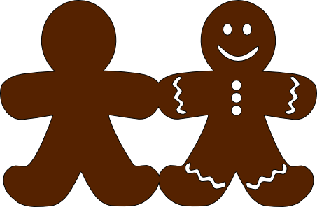 Gingerbread Man Silhouette | New Calendar Template Site