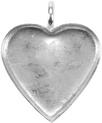 Bezel Base Elements Heart Pendant 1/Pkg