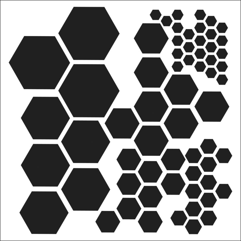 Balzer Designs Template, 6 by 6-Inch, Hexagons