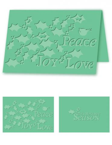 Holiday Holly- A4 Size eBosser Embossing Folder