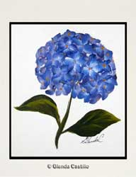 Heavenly Hortensia Hand-Painted Card