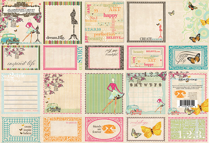 "TrendSetter Double-Sided Journaling Cards 3.5""X3.75"" 18/Pkg"