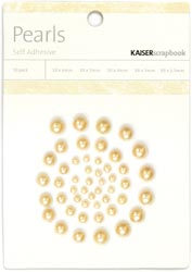 Kaisercraft Self-Adhesive Pearls 50/Pkg Latte
