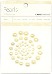 Kaisercraft Self-Adhesive Pearls 50/Pkg Lemon