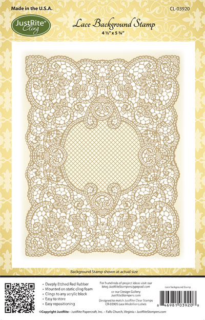 Justrite Stampers Cling Background Stamp: Lace