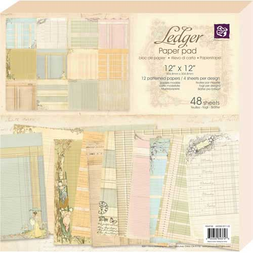 "Ledger Paper Pad 12""X12"" 48 Sheets #1"