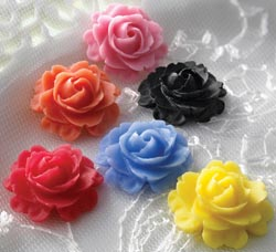 Little Whimsies Flat Back Non-Adhesive Embellishments - Roses