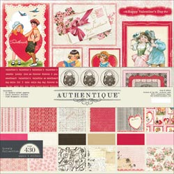"Authentique Lovely Collection Kit 12""X12"""