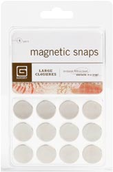 Magnetic Snaps 6/Pkg Large 5/8""