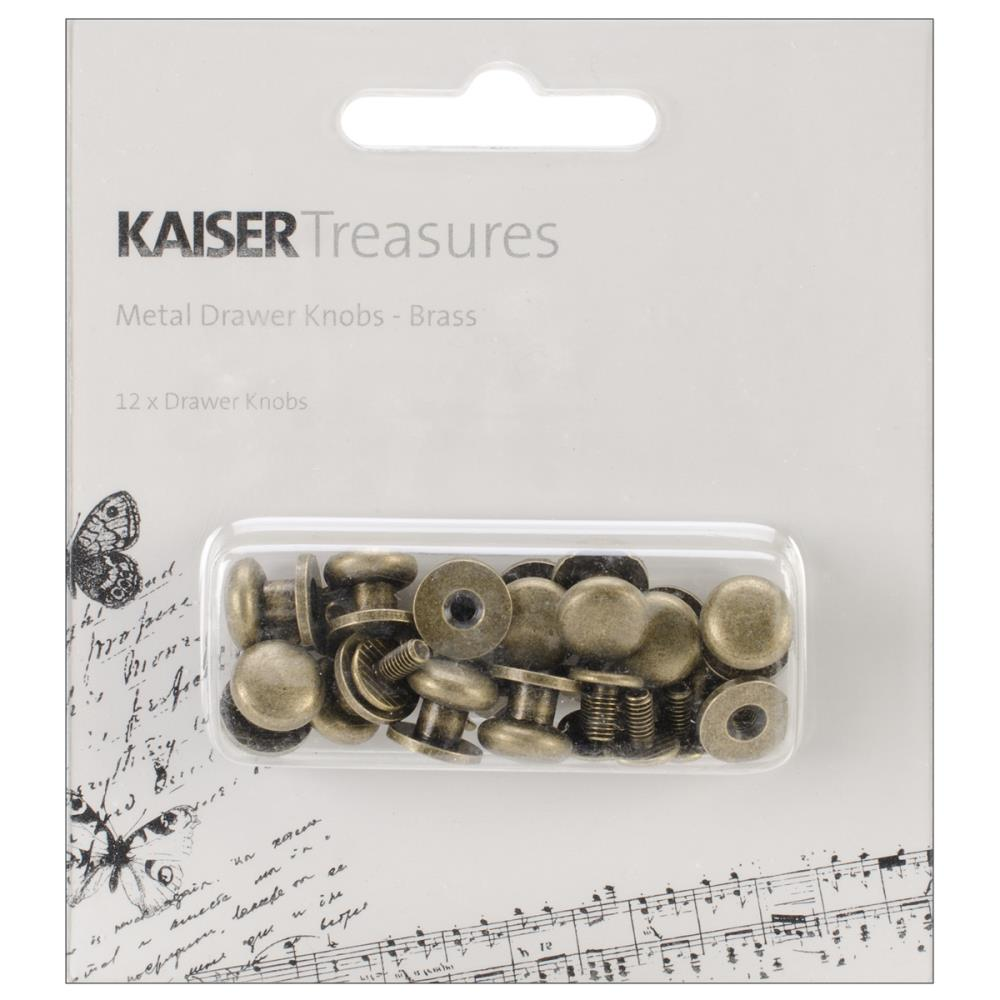 "Treasures Metal Drawer Knobs .375"" 12/Pkg"