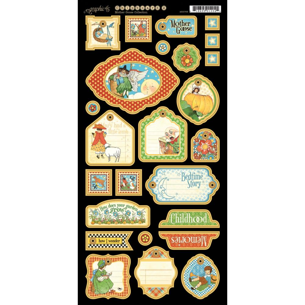 Graphic 45 Mother Goose Chipboard Die-Cuts # 2