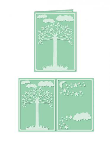 Natural Splendor - A4 Size eBosser Embossing Folder