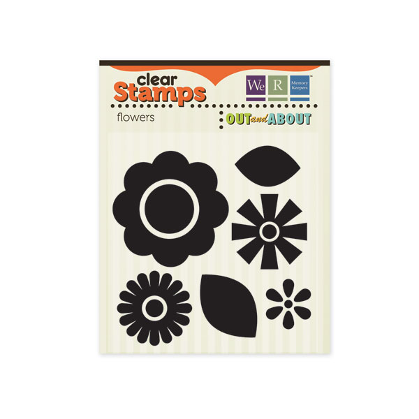 Out & About Clear Stamps Flowers