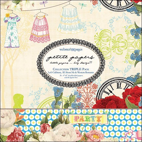 "Petite Papers Pad Triple Collection Combo 6""X6"":Let's Celebrate/"