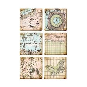 "Pixie Glen Clay Art Tiles .75""X.75"" 6/Pkg"