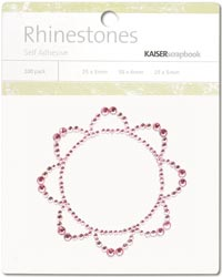 Kaisercraft Self-Adhesive Rhinestones - Retro Flower-Light Pink
