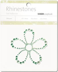 Kaisercraft Self-Adhesive Rhinestones Flower-Mint