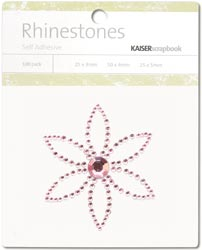 Kaisercraft Self-Adhesive Rhinestones Petal-Light Pink